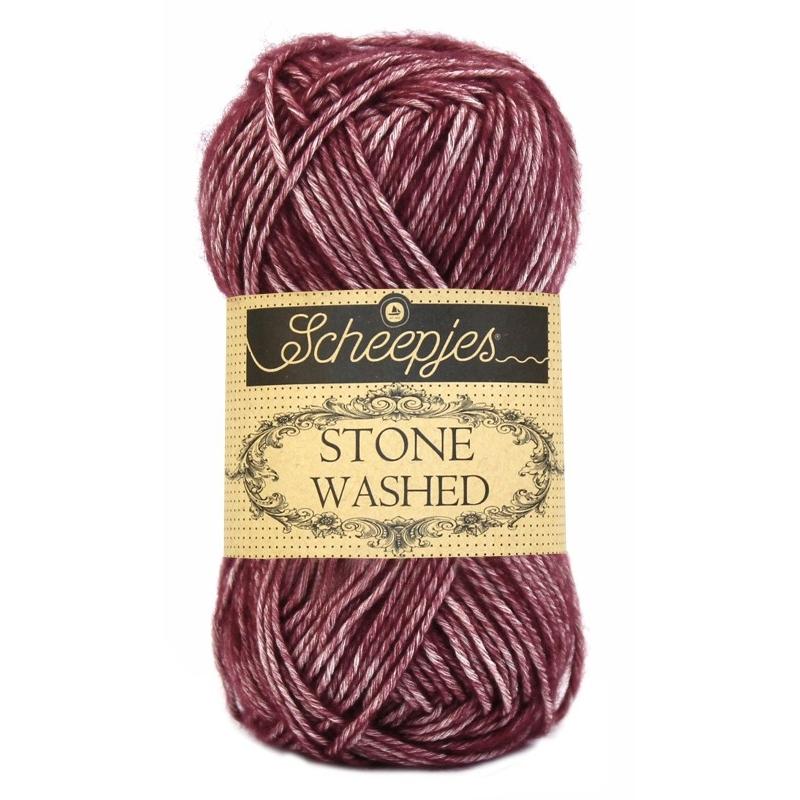Pelote Stone washed de Scheepjes - Garnet 810