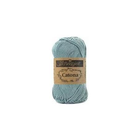 Scheepjes Catona 50 g bleu argenté 528