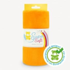 Coupon de tissu Minky pour peluche orange - Kullaloo
