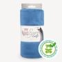 Coupon de tissu pour minky peluche bleu - Kullaloo