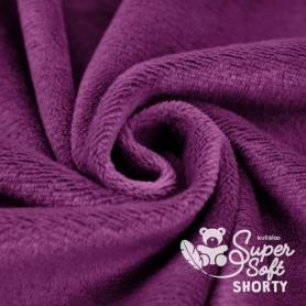 Coupon de tissu minky peluche prune - Kullaloo