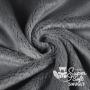 Coupon minky poils épais 5 mm gris - Kullaloo
