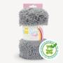 Coupon minky gris poils longs 20 mm - Kullaloo