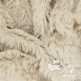 Coupon minky beige poils longs 20 mm - Kullaloo