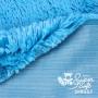Coupon minky bleu poils longs 20 mm - Kullaloo