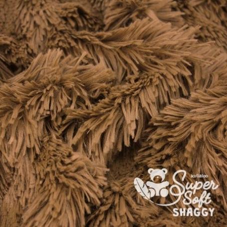 Coupon minky marron poils longs 30 mm - Kullaloo