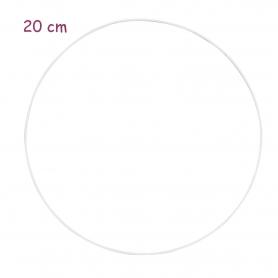 Cercle en métal blanc 20 cm - Glorex