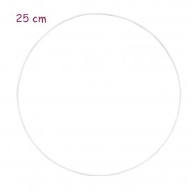 Cercle en métal blanc 25 cm - Glorex