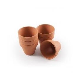 Lot de 5 petits pots de terre cuite