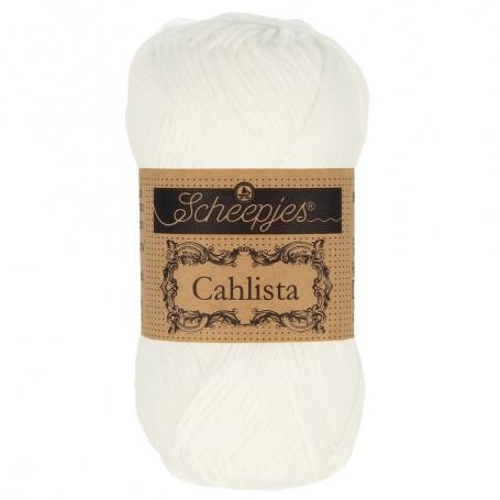 Coton à crocheter Scheepjes Cahlista blanc 106