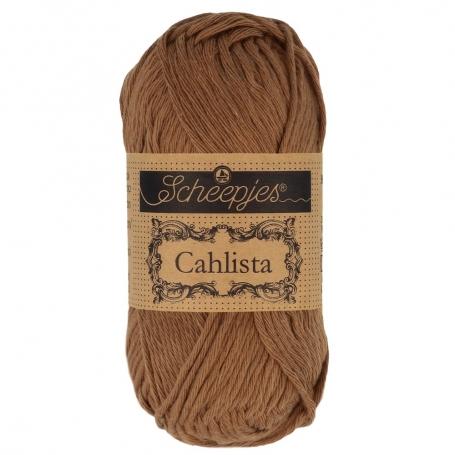 Coton à crocheter Scheepjes Cahlista marron 157