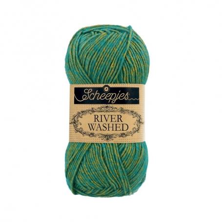 River Washed coton mélangé à crocheter Tibet 958