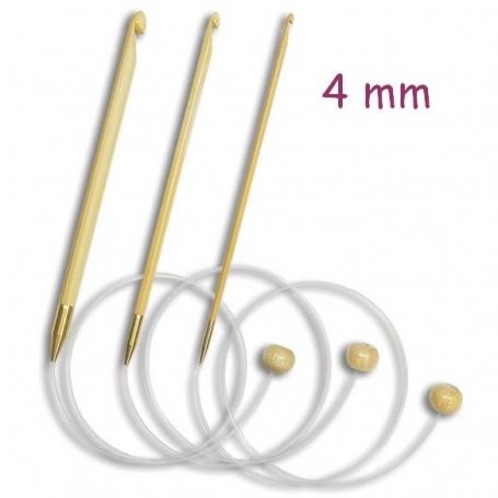 Crochet tunisien en bambou 4 mm - Kinki Amibari