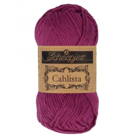 Coton à crocheter Scheepjes Cahlista violet Tyrian 128