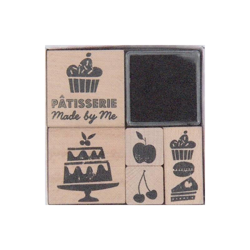 Kit tampon pâtisserie x 5 - Rico Design