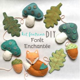 """Kit feutrine """"forêt enchantée"""" - Cinamon"""
