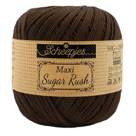 Maxi Sugar Rush coton mercerisé café noir