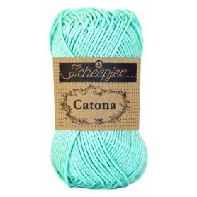 Scheepjes Catona 50 g bleu cristalline 385