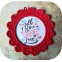 Patron Petit Cadre au Crochet Red Love