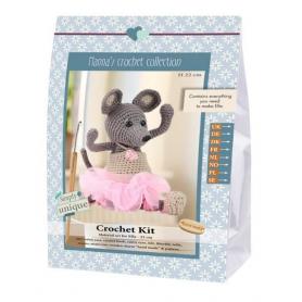 Kit crochet Amigurumi Ella la souris ballerine