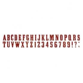 """Die de découpe alphabet """"Wanted"""" Tim Holtz"""