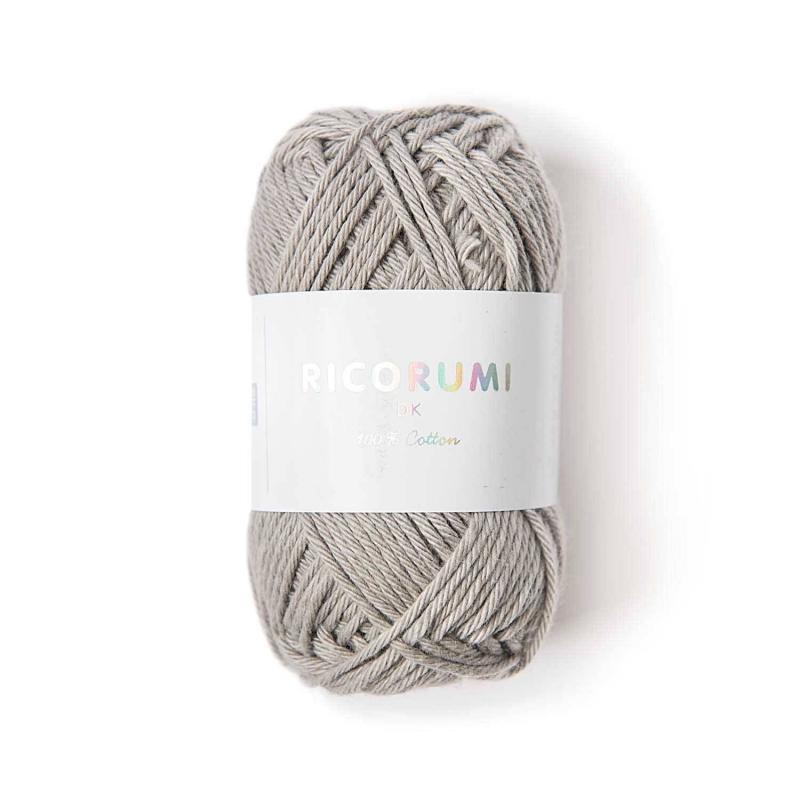 Coton à crocheter Ricorumi 25 g gris perle - 004