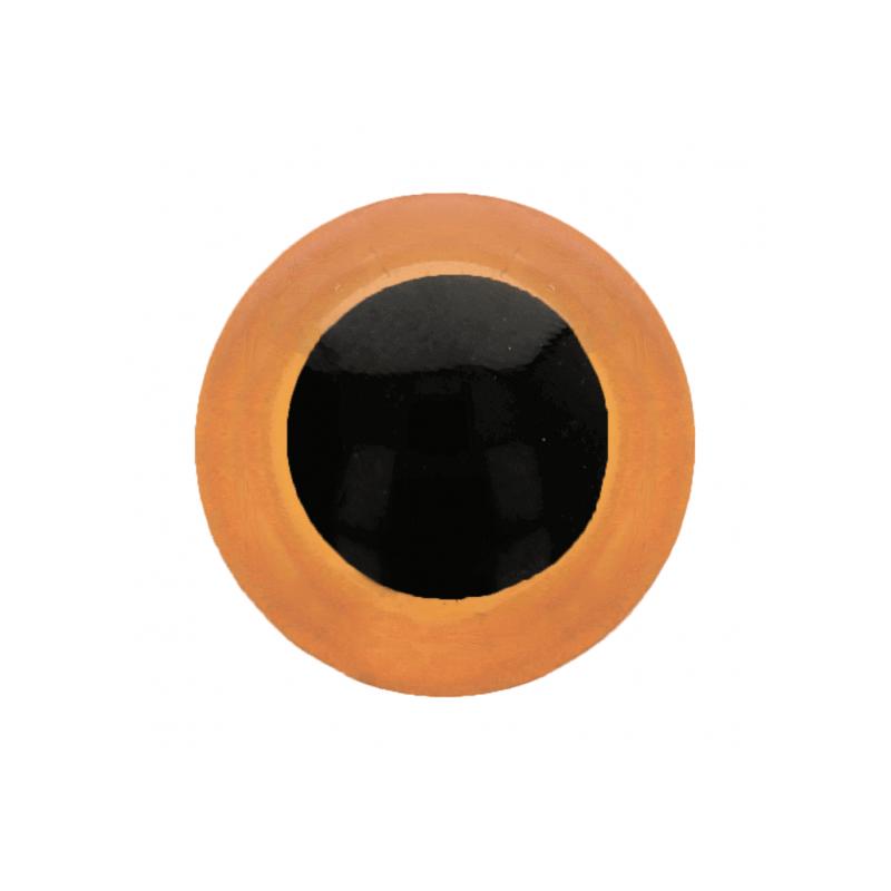1 paire d'yeux amigurumi et doudous oranges 10 mm