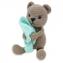 Kit crochet HardiCraft - Tibbe l'ours assis
