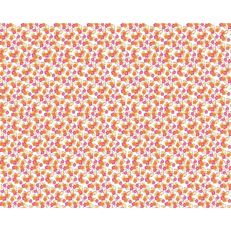 Feuille artepatch fleurs sur fond blanc Artemio