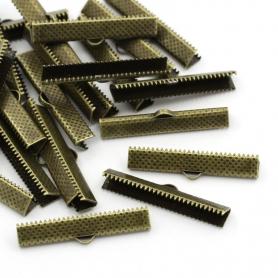 10 Pinces à griffes coloris bronze - 25 mm