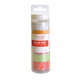 6 rouleaux Washi tape pois coloris assortis