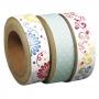 "3 rouleaux washi tape ""sugar flower"" n°1 Tante Ema"