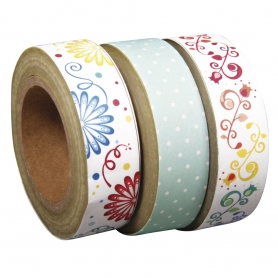 "3 rouleaux washi tape ""sugar flower"" n°1 Tante Ema"