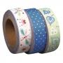 "3 rouleaux washi tape ""sugar flower"" n°2 Tante Ema"