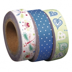 "3 rouleaux washi tape ""sugar flower"" n°2 Tante Ema"