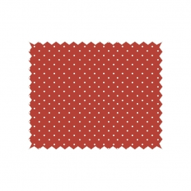 "Coupon tissu Tante Ema ""confetti de fruits"" rouge"