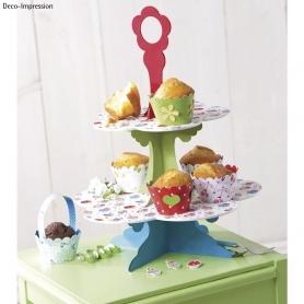 Gabarit caissette pour cupcake Tante Ema