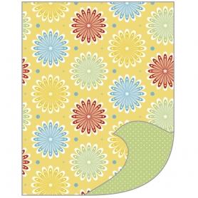 Feuille A4 papier de bricolage Tante Ema lit de fleurs