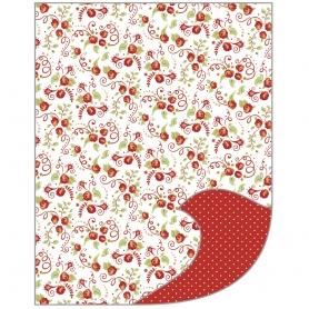 """Feuille A4 papier de bricolage Tante Ema """"la joie des roses"""""""