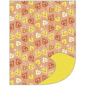 "Feuille A4 papier de bricolage Tante Ema ""jeu de feuilles"" orange"