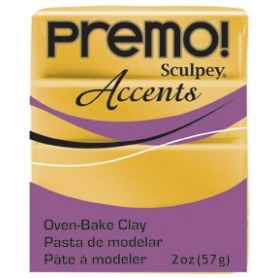 Premo Sculpey pain de 57g - or