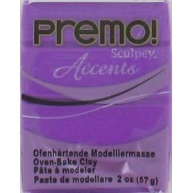 Premo Sculpey pain de 57g - Accent violet pearl 5031
