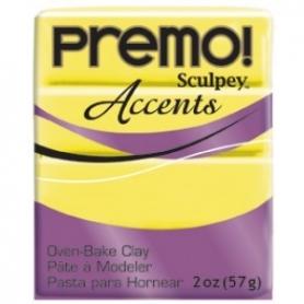 Premo Sculpey pain de 57g - Accents jaune transucide 5046