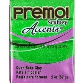 Premo Sculpey pain de 57g - Accents vert pailleté 5550