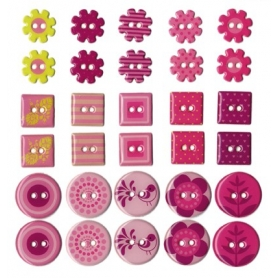 "Boutons epoxy ""girl"" 30 pièces"
