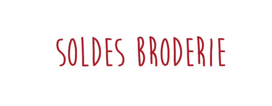 soldes broderie